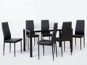 Mesa comedor vidrio templado ziyaz 6 sillas posot class for Comedor vidrio 6 sillas