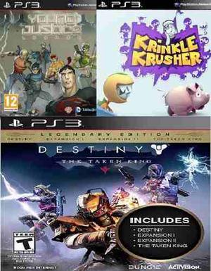 Paquete 3 Juegos Digitales Ps3 - Oferta
