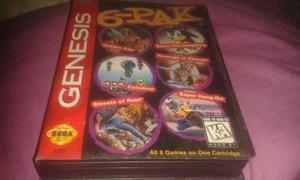 6 Pack De Juegos Originales Marca Sega