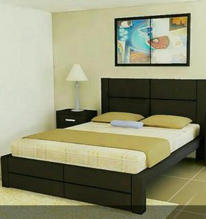 Venta de camas en madera cedro posot class for Divan cama plaza y media