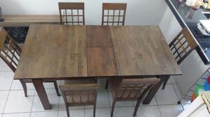 Juego de comedor vidrio rectangular con 6 sillas posot class for Comedor de vidrio con 6 sillas
