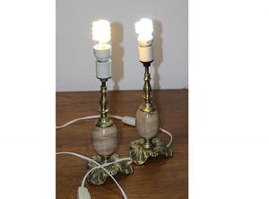 Lámpara de bronce y mármol 33 cm no incluye focos
