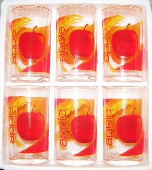 OFERTA ► NUEVOS EN CAJA !! Set de 6 vasos de vidrio