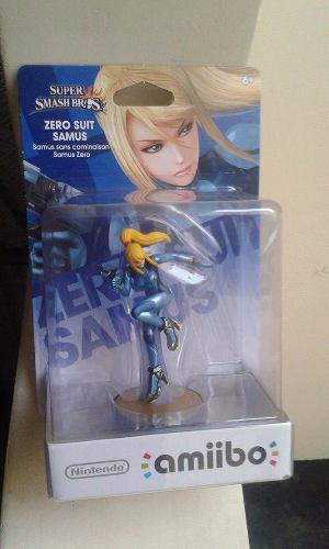Amiibo Zero Suit Samus Super Smash Bros Nintendo Wiiu Nuevo