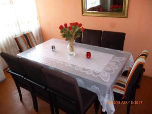 Mesa de comedor de vidrio y sillas de madera posot class for Comedor de vidrio con 6 sillas