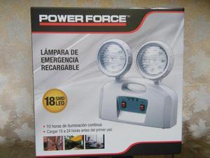 Luces LED de emergencia recargable.