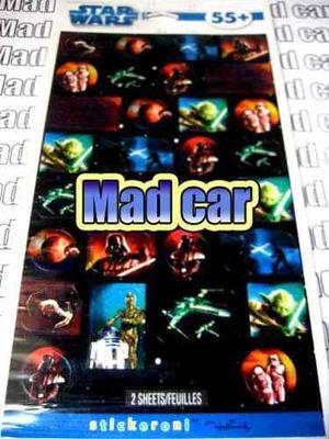 Mc Mad Car Star Wars Stickers Yoda Leia R2d2 C3po Coleccion