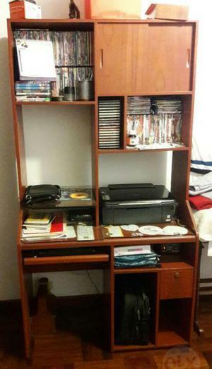 Librero y mueble para computadora posot class - Mueble escritorio ...