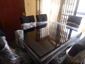 Vendo jgo de comedor con 6 sillas posot class for Sillas comedor acolchadas