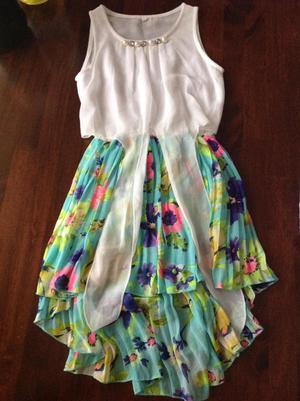 Vendo hermoso vestido de gasa chifon Talla 8 para niñas de