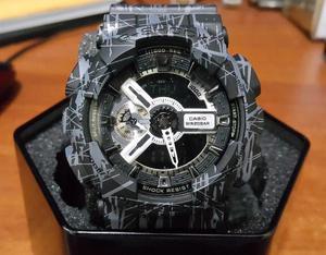 Reloj Casio G Shock Negro Jaspeado (Acero)