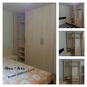 Fabricación De Roperos, Closet, Muebles En Melamina A