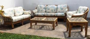 Muebles de rattan para patio usado