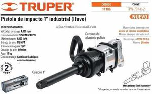 Pistola Neumatica 1 Pulg Truper  Tpn-