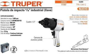 Pistola Neumatica 1/2 Pulg Truper  Tpn-734h-2