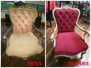 Forros de muebles y sillas cojines posot class for Tapizado de sillas