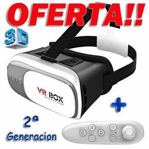 Lentes Realidad Virtual Vr Box 3d 2.0 Control Bluetooth