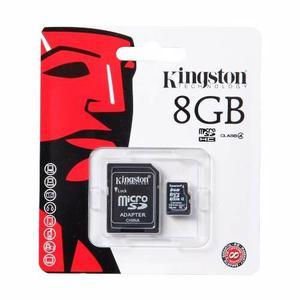 Memoria Micro Sd 8gb Clase 4 Kingston Para Celulares Camaras