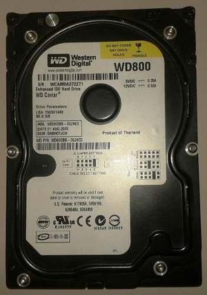 Vendo disco duro Interno western digital Black IDE de 80 gb