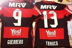Camiseta Flamengo Guerrero Trauco  S M L Xl