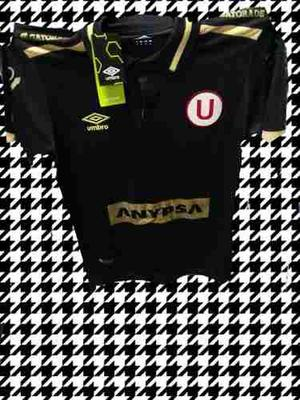 Camiseta Universitario Negra  S M L Xl 6-10