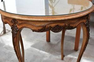 Antigua mesa de centro tallada 100 cedro posot class - Mesas de centro antiguas ...