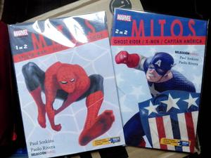 MITOS spiderman, capitan america marvel comics en español