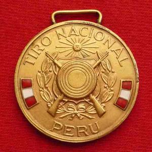 Medalla Concurso De Tiro Nacional Del Peru Esmaltada Wyw