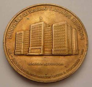 Medalla  Inaguracion Del Ministerio De Trabajo Lima Peru