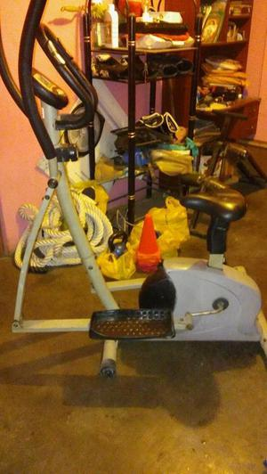 bicicleta trotadora eliptica, gym