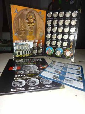 Álbum De Monedas De Colección Del Perú - 31 Monedas +