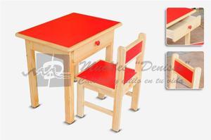 Mesa de ninos nido o inicial con 4 sillas color posot class for Sillas para inicial