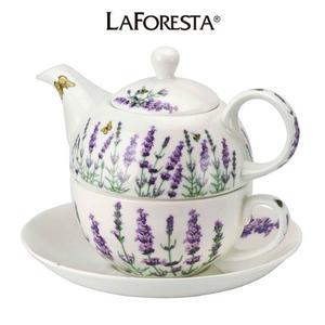 Juego De Té Individual Porcelana Lavender