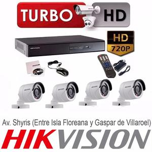 KIT DE 4 CAMARAS DE SEGURIDAD HD 720P