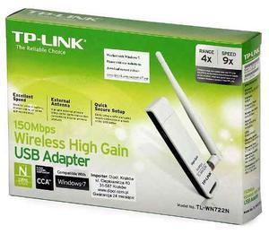 Adaptador Usb Wifi Tp-link Tl-wn722n 150mbps 5dbi