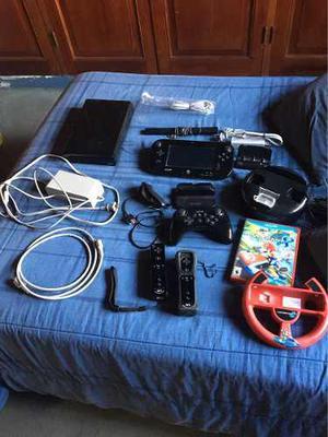 Nintendo Wii U 32 Gb + 03 Controles + Accesorios + 01 Juego