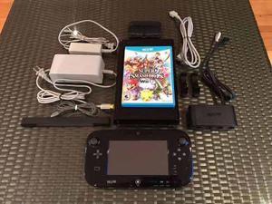 Nintendo Wii U 32 Gb + Super Smash Bros Wii U + Adaptador Gc