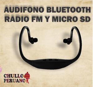 AUDIFONO BLUETOOTH RADIO FM ENTRADA SD / MAYOR Y MENOR