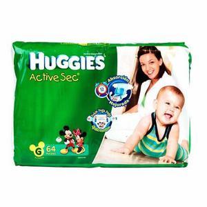 Remato pañales HUGGIES Active Sec Hiperpack G de 64