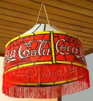 Lampshade Coca Cola De Papel