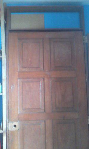 Puerta principal apanelada de madera cedro posot class - Marco puerta madera ...