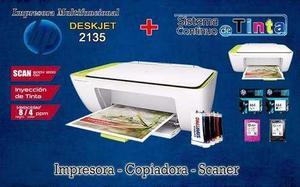 Impresora Multifuncional Hp + Sistema Continuo (nueva)