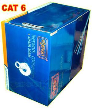 Cable De Red Utp Cat. 6 Energit Color Gris Caja X 305 Metros
