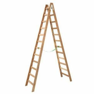 Escalera tijera doble de madera 12 pasos posot class - Escalera de pintor de madera ...