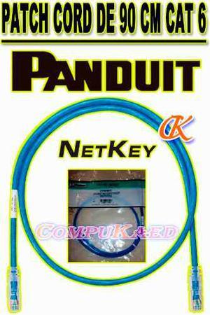 Patch Cord De 90 Cm Cat 6 Color Azul Panduit Cable De Red