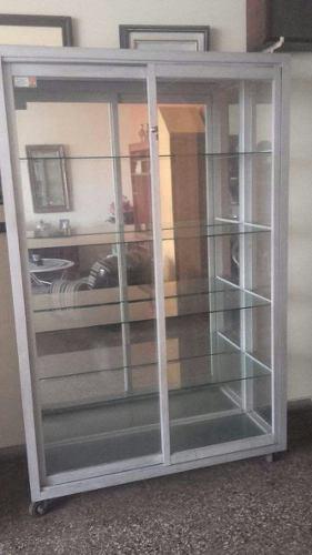 Remato Vitrina Exhibidora De Aluminio Con Espejo