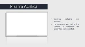 ATENCION!!! PIZARRAS ACRILICAS