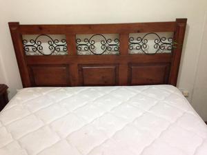 juego dormitorio queen con cabecera y colch n posot class