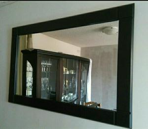 Consola con marco de espejo en madera de cedro posot class for Espejo marco madera