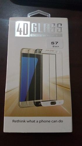 Protector De Vidrio Templado 4d Para Galaxy S7